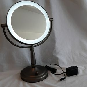 Other - Cordless lighted two sided swivel vanity mirror